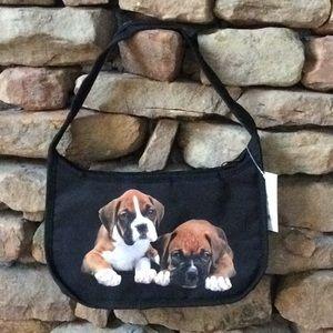 Handbags - Boxer Puppies Mini Hobo